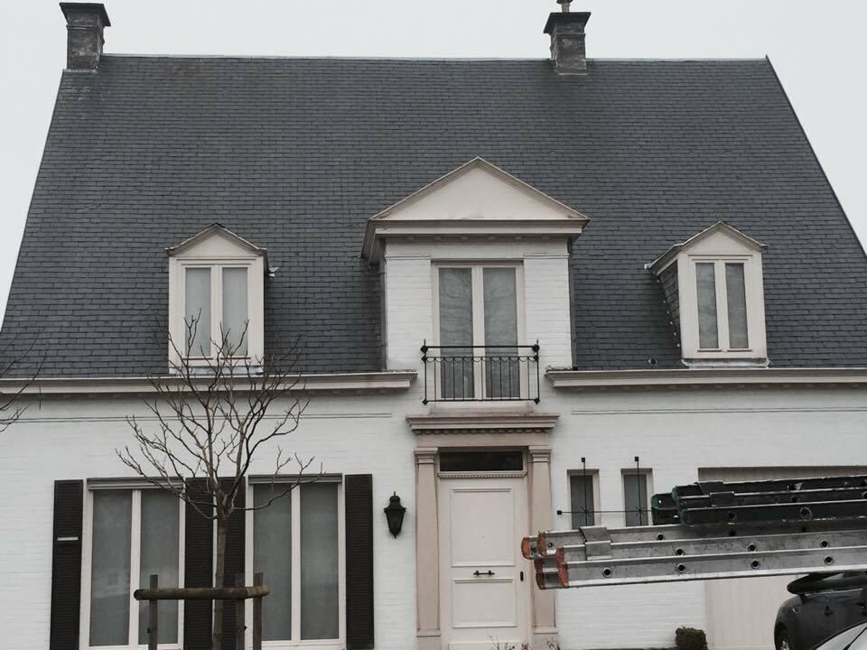 Ontmossen van daken tegen mos - Harelbeke