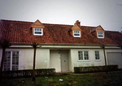 Ontmossen dak en reinigen gevel - Kortrijk