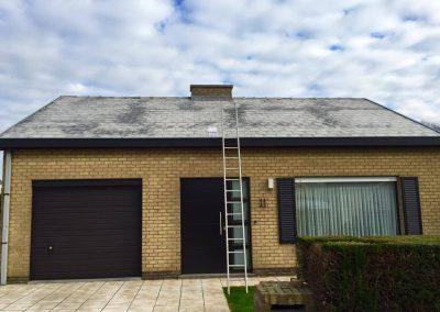 Ontmossen daken tijdens