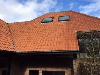 Reinigen daken na